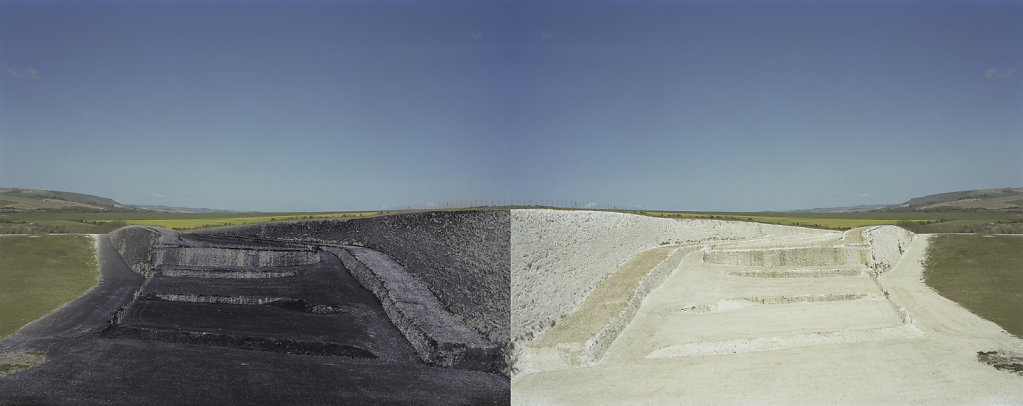 Field of Vision III - Tarring Neville Chalk Quarry, Sussex, C-Type Hand Printed 40 x 31in / 102 x 79 cm (Edition of 30) Tarring Neville Chalk Quarry, Sussex, C-Type Hand Printed Dyptique 80 x 31in / 202 x 79 cm (Edition of 20)